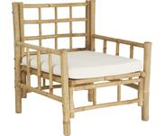 Bambus-Sessel Mandisa mit Sitzpolster