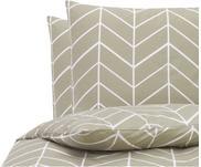 Baumwoll-Bettwäsche Mirja mit grafischem Muster