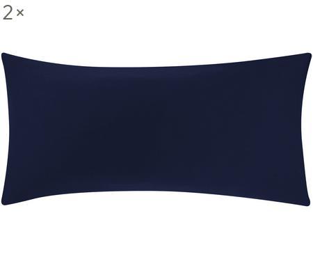 Baumwollsatin-Kissenbezüge Comfort in Dunkelblau, 2 Stück