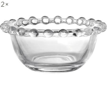 Kleine Glas-Schälchen Perles, 2 Stück