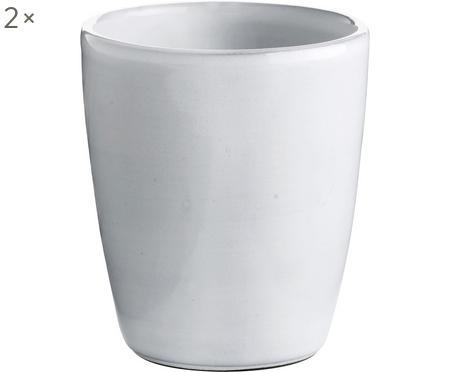Keramik-Becher Haze in Weiss, 2 Stück