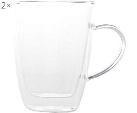 Doppelwandiges Teeglas Isolate, 2 Stück