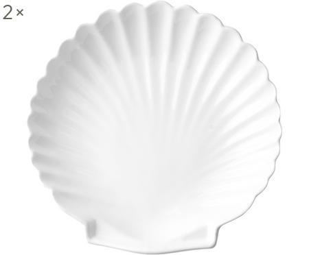Teller Shell in Muschelform, 2 Stück