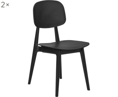 Kunststoff-Stühle Smilla, 2 Stück