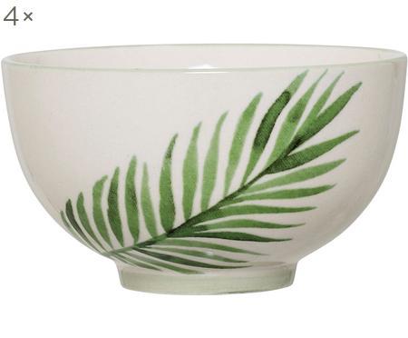 Schälchen Jade mit tropischem Motiv, 4 Stück