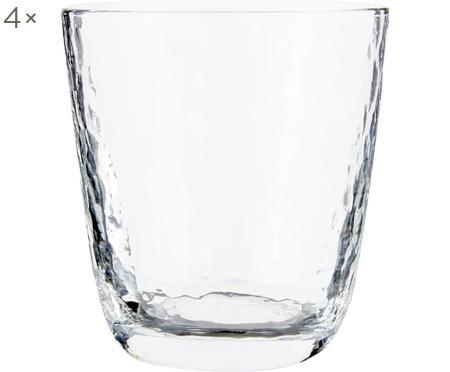 Mundgeblasene Wassergläser Hammered mit unebener Oberfläche, 4 Stück