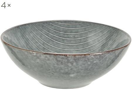 Handgemachte Schalen Nordic Sea Ø 17 cm aus Steingut, 4 Stück