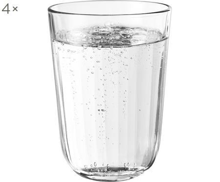 Thermogläser Facette aus gehärtetem Glas, 4 Stück