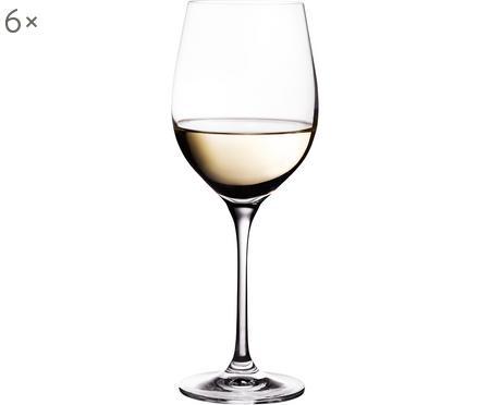Weissweingläser Harmony aus glattem Kristallglas, 6er-Set