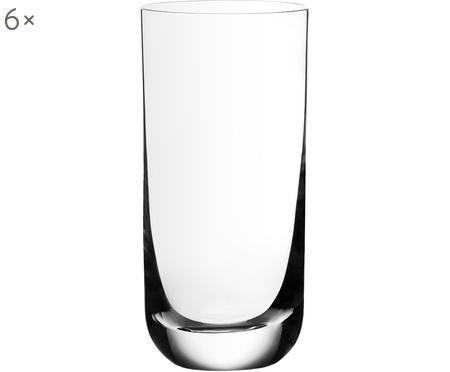 Kristall-Longdrinkgläser Harmony mit dünnem Kelchrand, 6 Stück