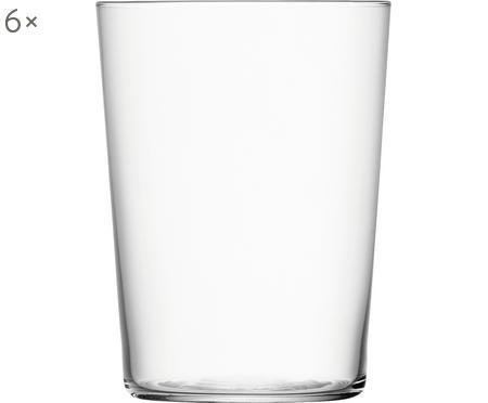 Filigrane Wassergläser Gio aus dünnem Glas, 6 Stück