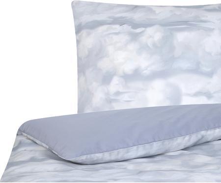 Baumwollsatin-Bettwäsche Cloudy mit Wolkenprint