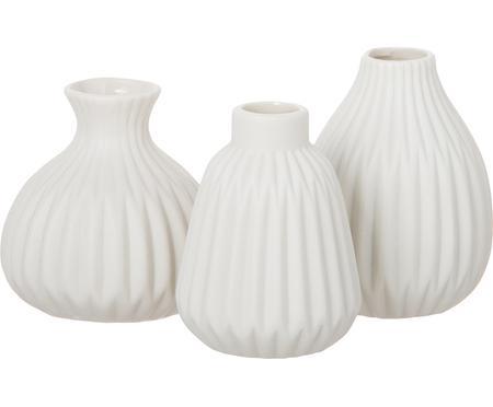 Kleines Vasen-Set Esko aus Porzellan, 3-tlg.