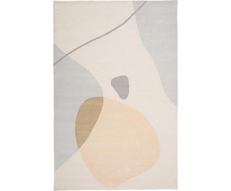 Handgetufteter Wollteppich Luke mit abstraktem Muster