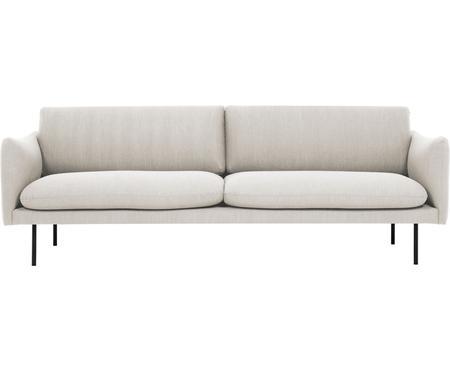 Sofa Moby (3-Sitzer) in Beige mit Metall-Füssen