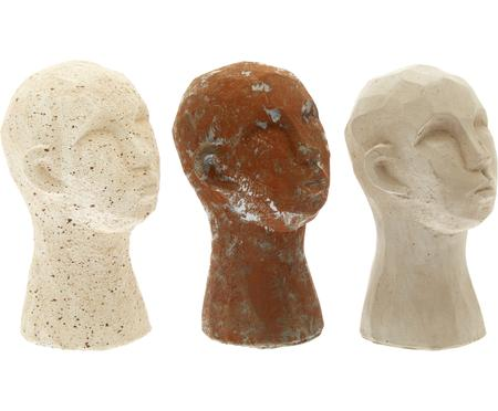 Deko-Objekte-Set Figure Head, 3-tlg.