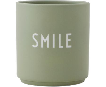 Design Becher Favourite SMILE in Mint mit Schriftzug