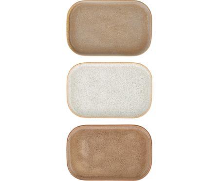Handgemachtes Servierplatten Addison B 15 x L 23 cm, 3er-Set