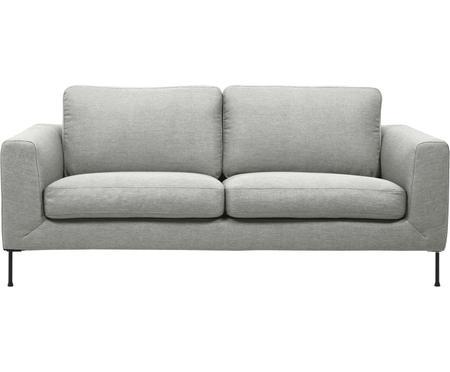 Sofa Cucita (2-Sitzer) in Hellgrau mit Metall-Füssen