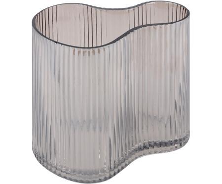Kleine Glasvase Gloria mit Rillenmuster