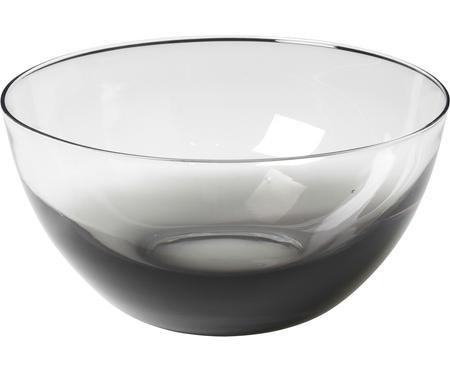Mundgeblasene Schüssel Smoke aus Glas, Ø 25 cm