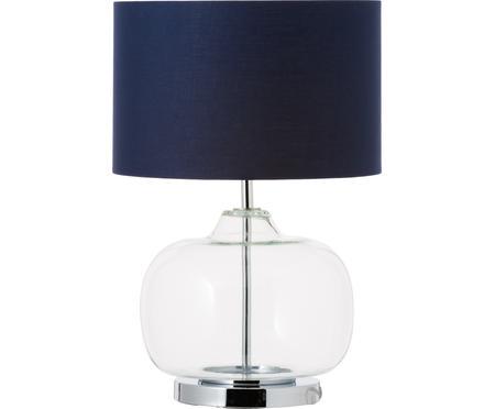 Tischlampe Amelia aus Glas und Baumwolle