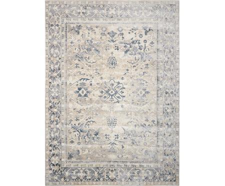 Vintage Teppich Malta in Blau-Beige