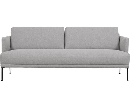 Sofa Fluente (3-Sitzer) in Hellgrau mit Metall-Füssen