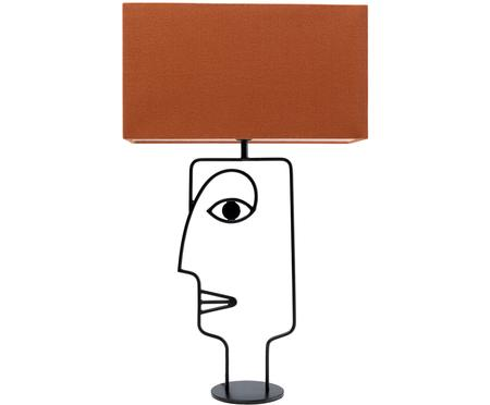 Grosse Tischlampe Face Orange