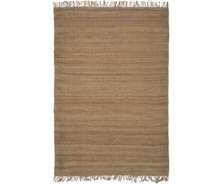 Handgefertigter Jute-Teppich Naturals mit Fransen