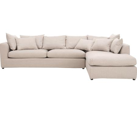 Grosses Ecksofa Zach in Beige