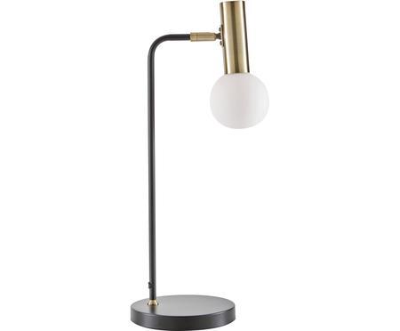 Grosse Schreibtischlampe Wilson mit Glasschirm