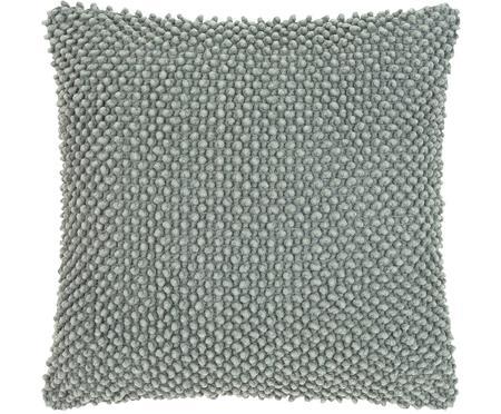 Kissenhülle Indi mit strukturierter Oberfläche in Salbeigrün