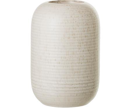 Vase Aya aus Steingut in Beige