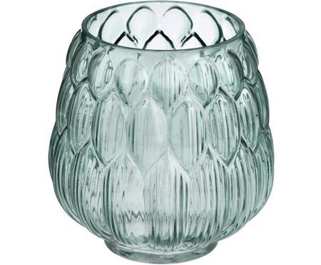 Kleine Glas Vase Berry in Petrol