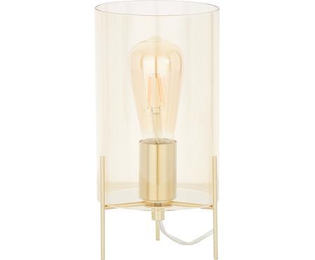 Kleine Tischlampe Laurel aus farbigem Glas