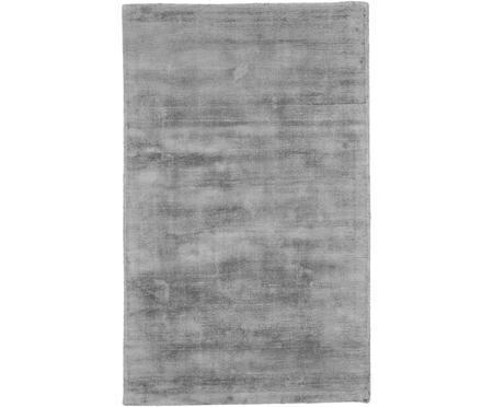 Handgewebter Viskoseteppich Jane in Grau
