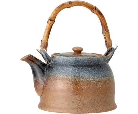 Handgemachte Teekanne Aura mit Teesieb und Bambusgriff, 1 L