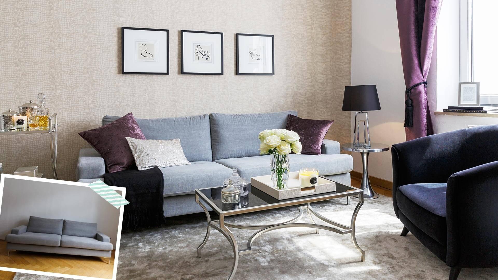 Sofa-Style: Glam