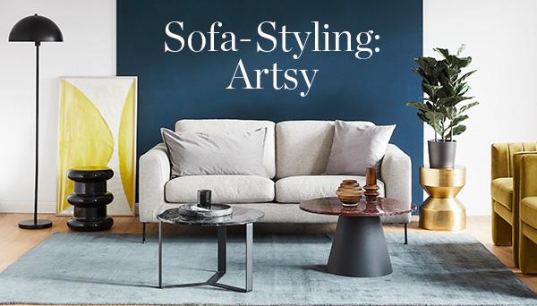 Sofa-Styling: Artsy