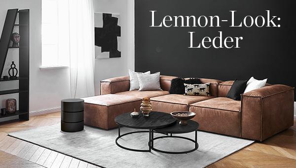 Lennon-Look: Leder