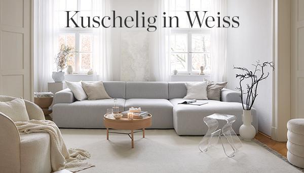 Kuschelig in Weiss