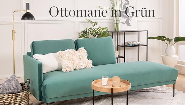 Ottomane in Grün