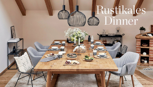 Rustikales Dinner